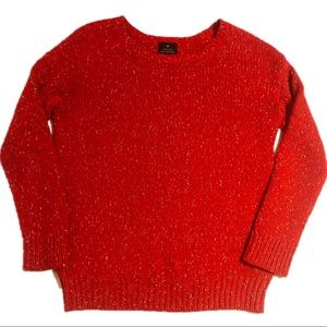 AE Small Vintage Boyfriend Sweater Red Gold